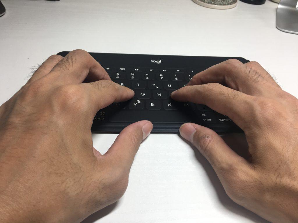 Logicool Keys-To-Go キーポジショニング