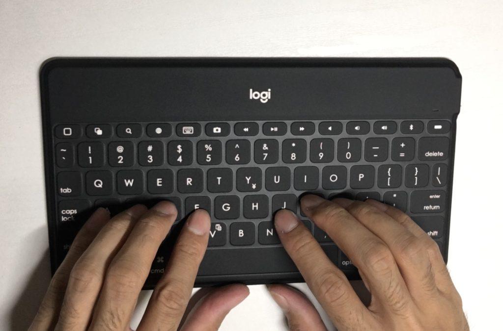 Logicool Keys-To-Go 指のポジショニング