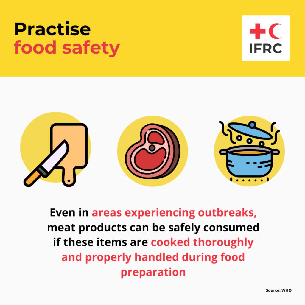 赤十字インフォグラフィック 食事の衛生管理