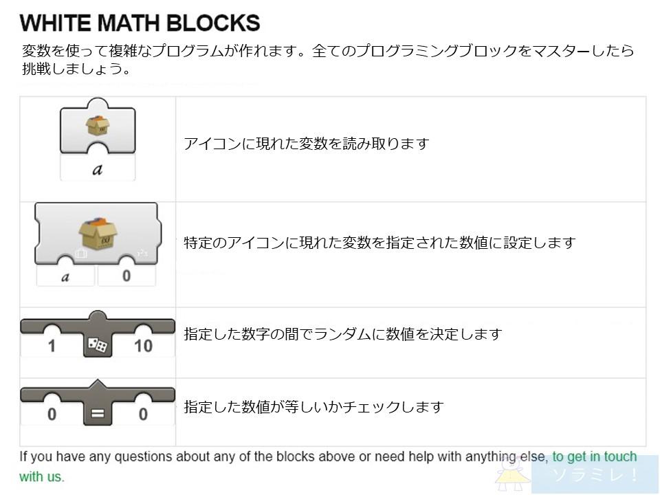 レゴブーストプログラミングブロックの説明白