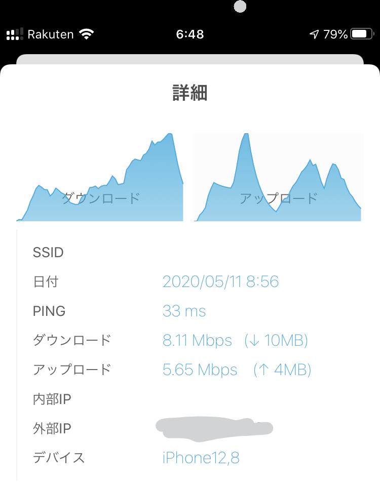 Rakuten UN-LIMITのeSIM通信レポート天満橋付近