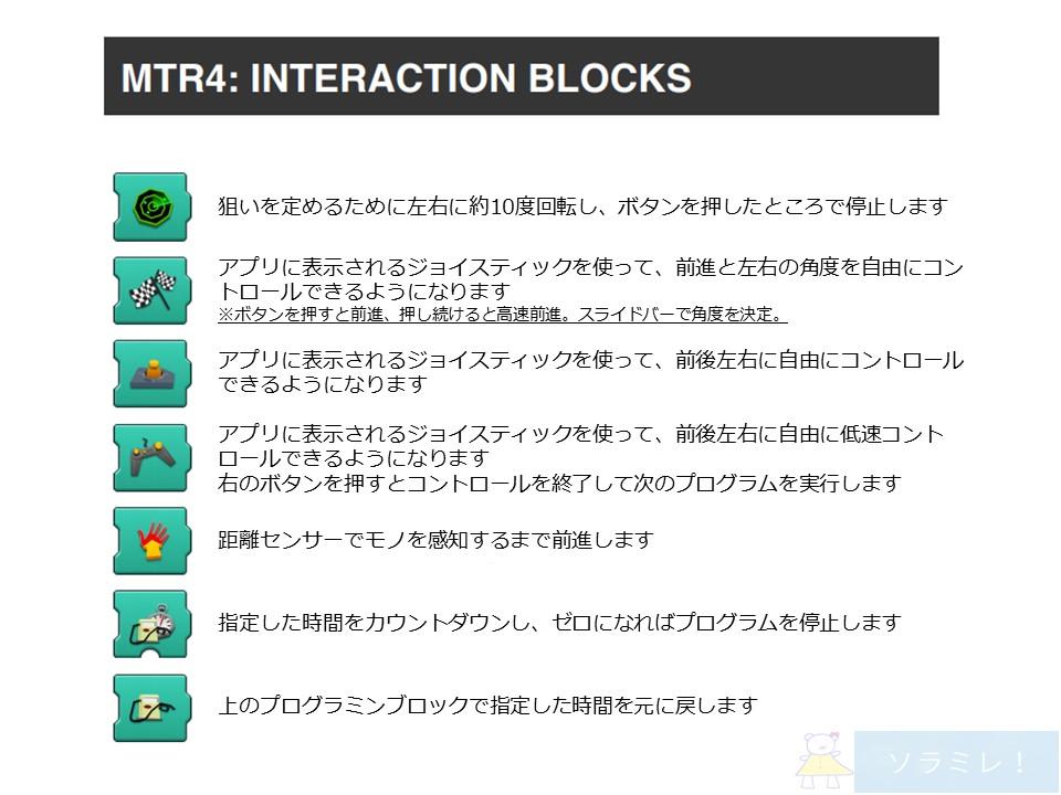 レゴブーストプログラミングブロックの説明【インタラクティブ】
