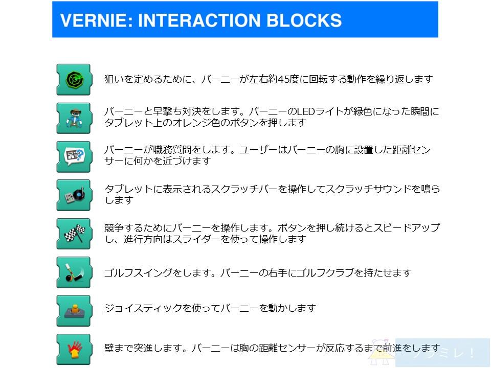 レゴブーストプログラミングブロックの説明【Vernie編】10