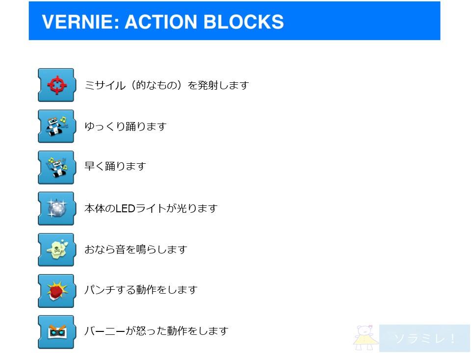 レゴブーストプログラミングブロックの説明【Vernie編】8