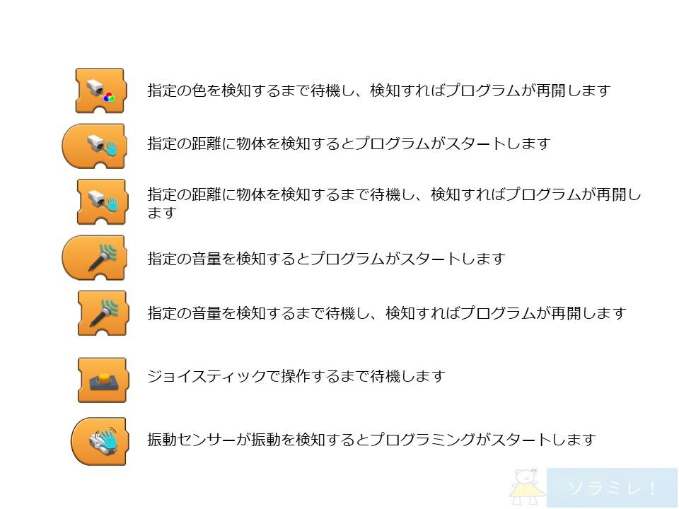 レゴブーストプログラミングブロックの説明【Vernie編】3
