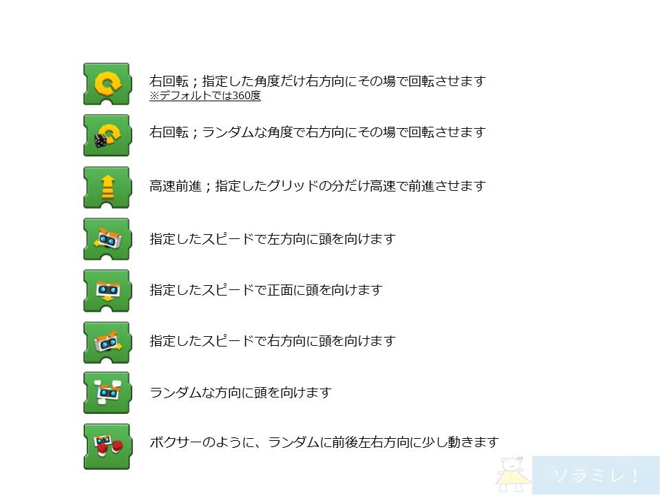 レゴブーストプログラミングブロックの説明【Vernie編】5