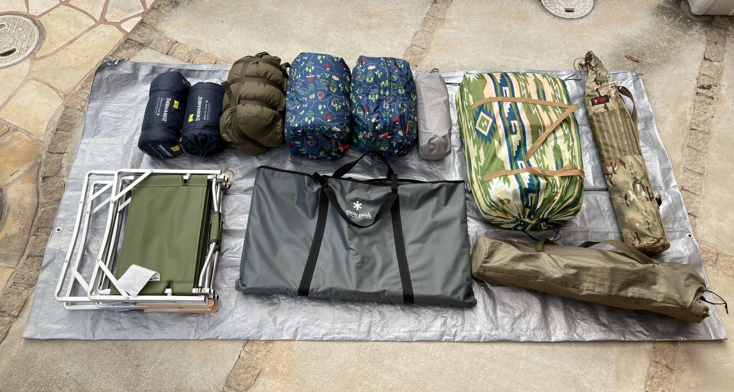 積み込んだ荷物の写真